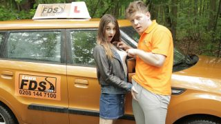 FakeDrivingSchool – Teen Brunette Pussy Stretched