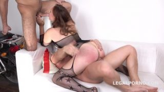 LegalPorno – Sarah Dele Gets 2on1 Dp With Balls Deep Anal Gl048